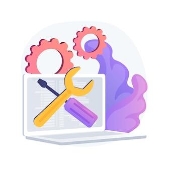 Ilustracja koncepcja streszczenie usługi komputera