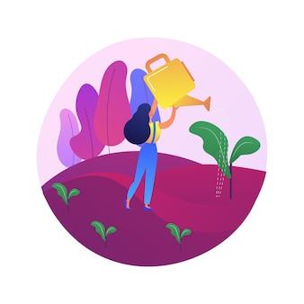 Ilustracja koncepcja streszczenie zalesiania. hodowla lasu, program ponownego zalesiania, przesadzanie drzew, naturalne odnawianie lasów, ochrona lasów, łagodzenie zmian klimatu
