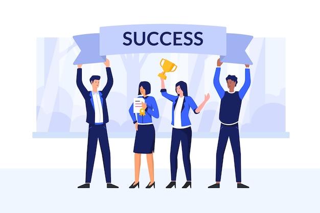 Ilustracja koncepcja sukcesu