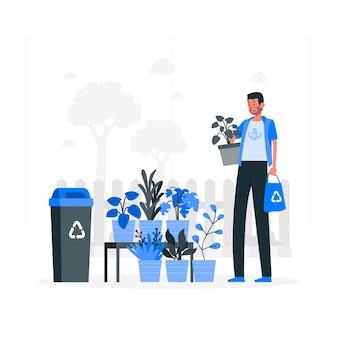 Ilustracja koncepcja świadoma ekologicznie