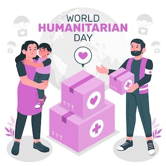 Ilustracja koncepcja światowego dnia humanitarnego