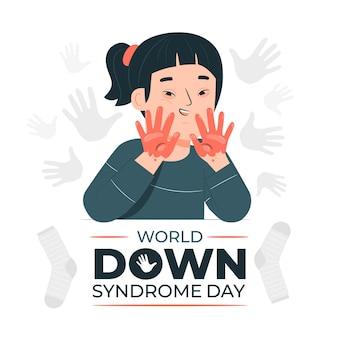 Ilustracja koncepcja światowego dnia zespołu downa