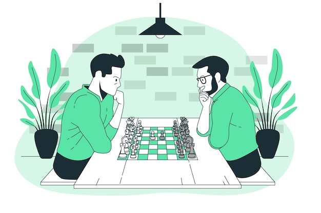 Ilustracja koncepcja szachy