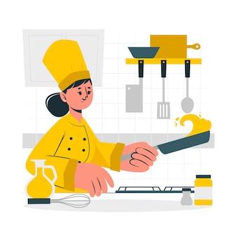 Ilustracja koncepcja szefa kuchni