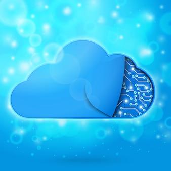 Ilustracja koncepcja technologii przetwarzania w chmurze
