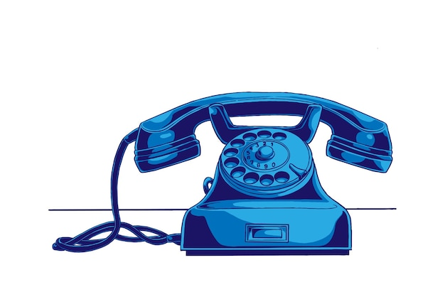 Ilustracja koncepcja telefonu