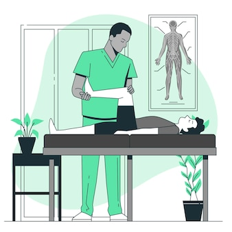 Ilustracja koncepcja terapeuty masażu