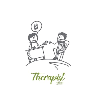 Ilustracja koncepcja terapeuty