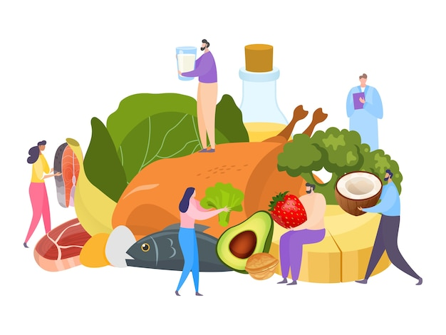 Ilustracja koncepcja tłuszczu żywności