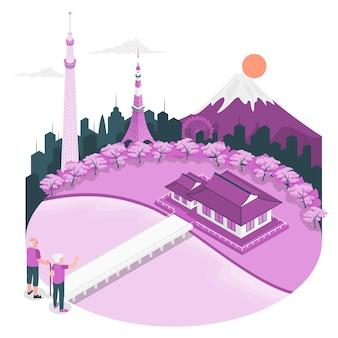 Ilustracja koncepcja tokio
