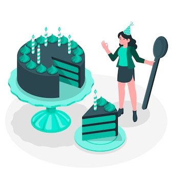 Ilustracja koncepcja tort urodzinowy