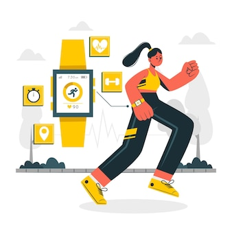 Ilustracja koncepcja trackera fitness