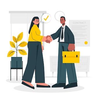 Ilustracja koncepcja transakcji biznesowych