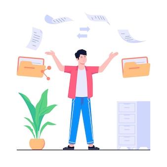 Ilustracja koncepcja transferu plików