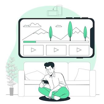 Ilustracja koncepcja trybu poziomego