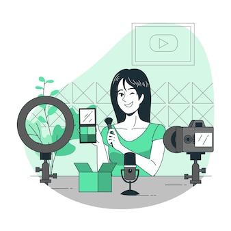 Ilustracja koncepcja twórcy treści