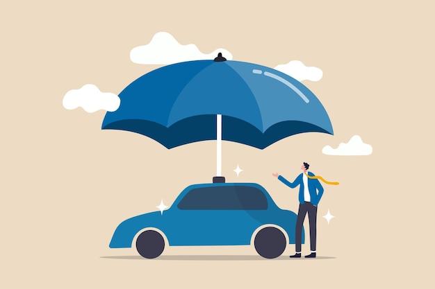Ilustracja koncepcja ubezpieczenia samochodu