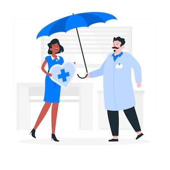 Ilustracja koncepcja ubezpieczenia