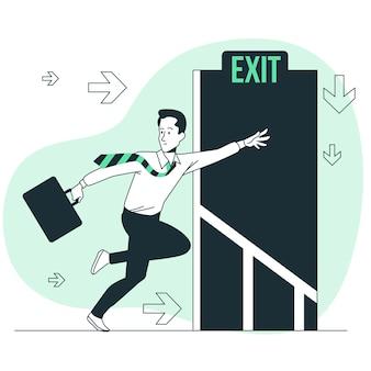 Ilustracja koncepcja ucieczki