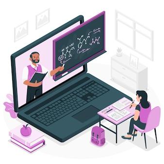 Ilustracja koncepcja uczenia się online