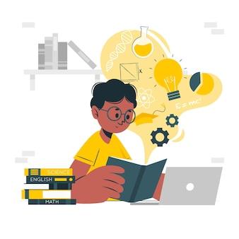 Ilustracja koncepcja uczenia się