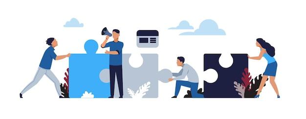 Ilustracja koncepcja układanki biznesowe