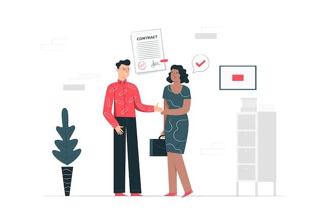 Ilustracja koncepcja umowy