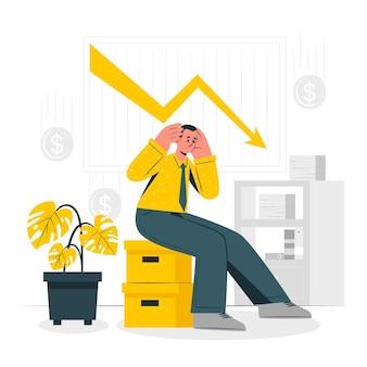 Ilustracja koncepcja upadłości