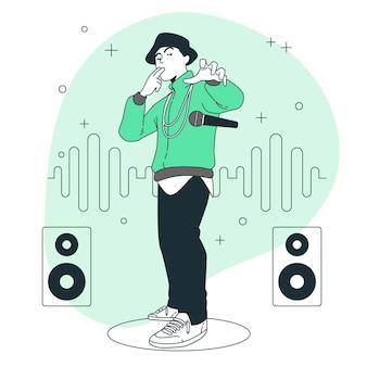 Ilustracja koncepcja upuszczenia mikrofonu