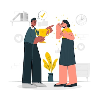 Ilustracja koncepcja uznania