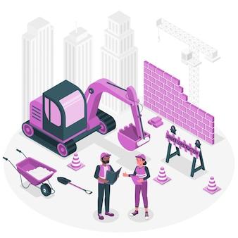 Ilustracja koncepcja w budowie