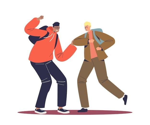 Ilustracja koncepcja walki studentów
