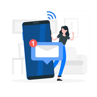 Ilustracja koncepcja wiadomości