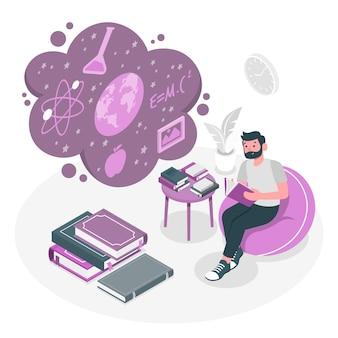 Ilustracja koncepcja wiedzy
