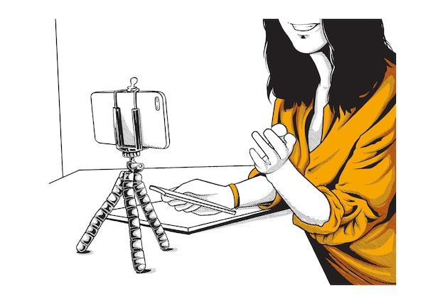 Ilustracja koncepcja wirtualnego spotkania