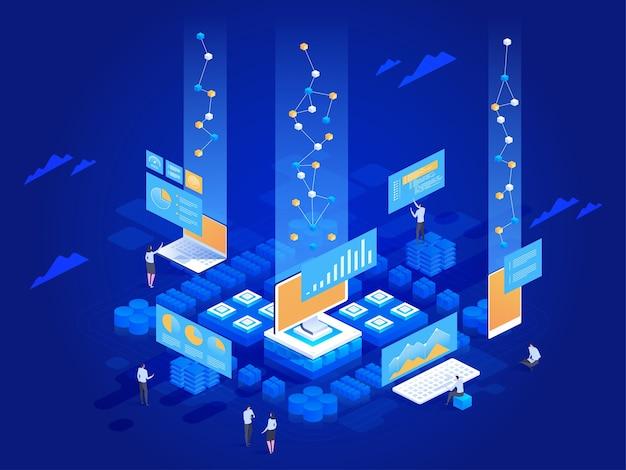 Ilustracja koncepcja wizualizacji danych
