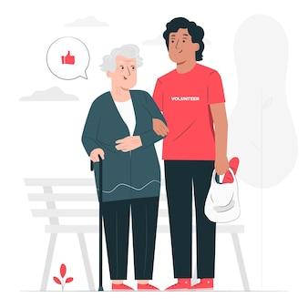 Ilustracja koncepcja wolontariatu