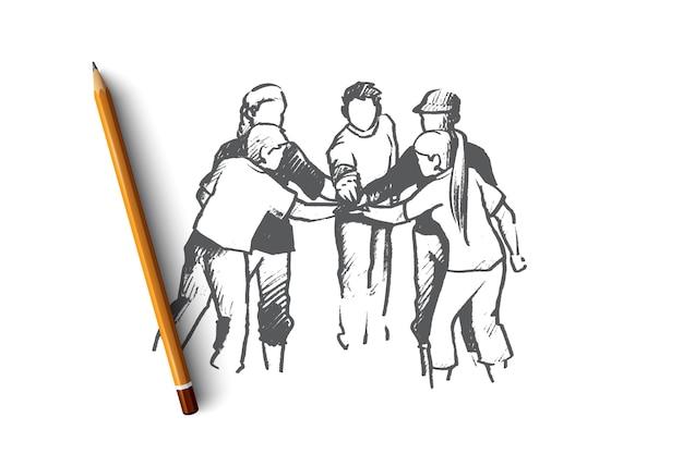 Ilustracja koncepcja wolontariusza