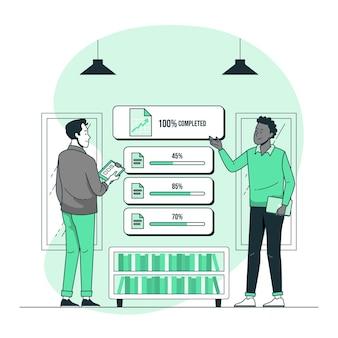 Ilustracja koncepcja wspólnych celów