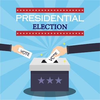 Ilustracja koncepcja wyborów prezydenckich