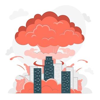 Ilustracja koncepcja wybuchu