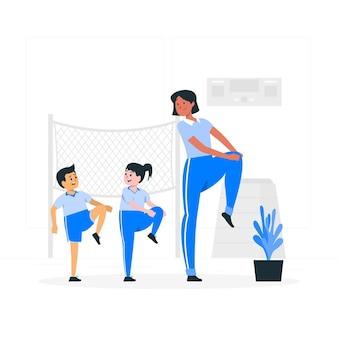 Ilustracja koncepcja wychowania fizycznego