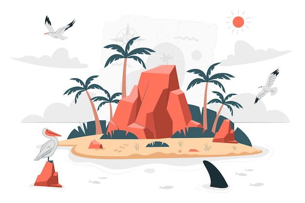 Ilustracja koncepcja wyspy