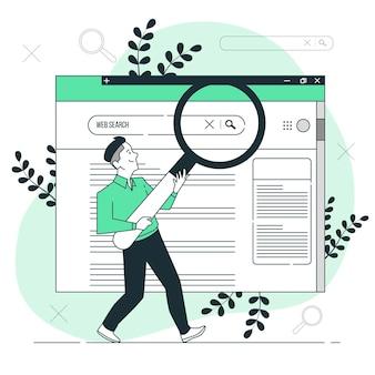 Ilustracja koncepcja wyszukiwania w sieci web