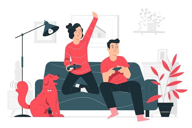 Ilustracja koncepcja zabawy