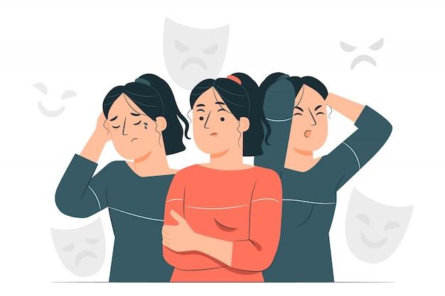 Ilustracja koncepcja zaburzenia osobowości