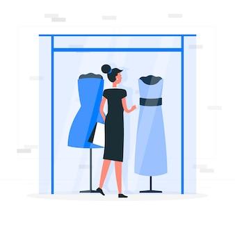 Ilustracja koncepcja zakupy okna