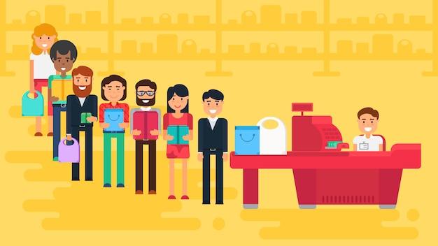 Ilustracja koncepcja zakupy