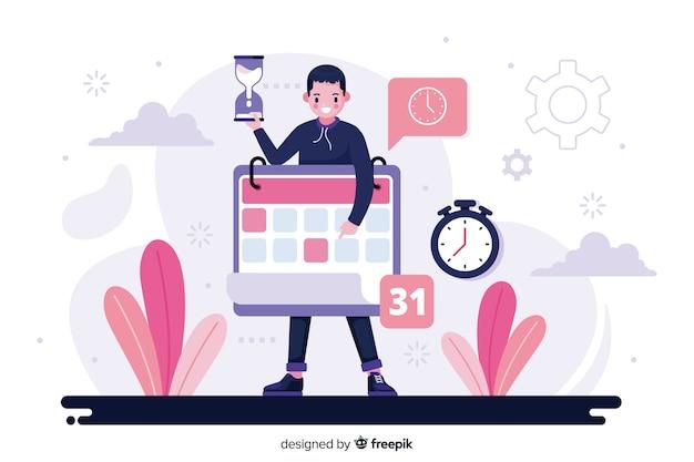 Ilustracja koncepcja zarządzania czasem
