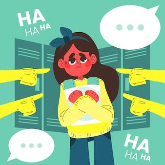 Ilustracja koncepcja zastraszanie